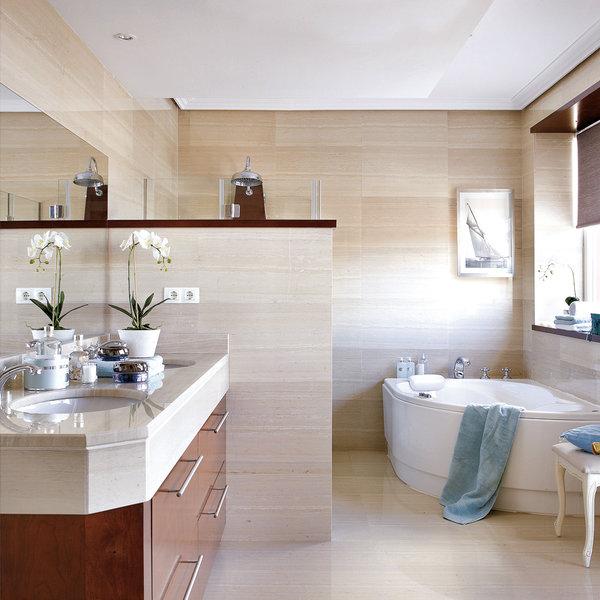 ¿Cómo dividir los espacios en el baño?