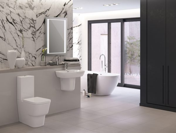 decoración minimalista del baño